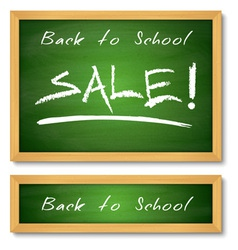 Back to School Wooden Green Chalkboard vector image
