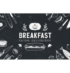 breakfast food hand drawn vector image