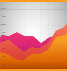 business colorful diagram vector image vector image