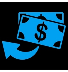 Cashback icon from business bicolor set vector