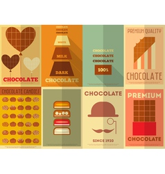 Chocolate retro posters vector