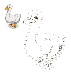 Connect the dots game goose vector