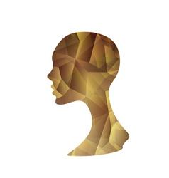 Crystal abstract woman vector