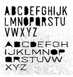 Cut off alphabet black letters on white vector