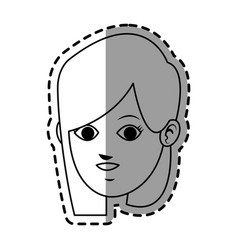 face of young woman icon image vector image vector image