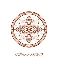 Henna color mandala over white vector