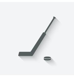 Hockey sport icon vector