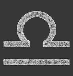 Libra zodiac sign line art vector