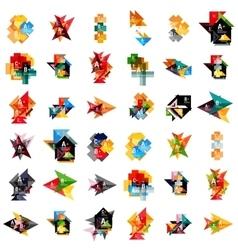 Mega set of geometric web option box banners vector image vector image