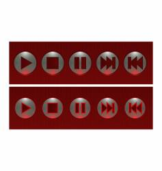 on/off buttons vector image