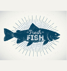 Silhouette of fish in the graphic style vector