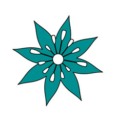 Single blue flower icon image vector