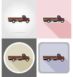 truck flat icons 01 vector image vector image