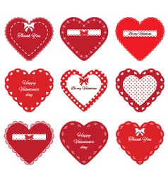 Valentines day hearts stickers vector image vector image