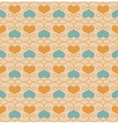 Vintage seamless pattern with hearts vector