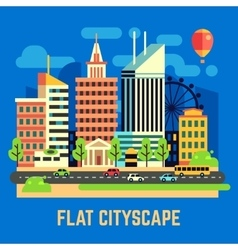 Flat city urban landscape vector