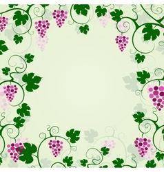 Grape vines background frame vector