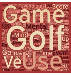 Intro to the mental game of golf part 1 text vector