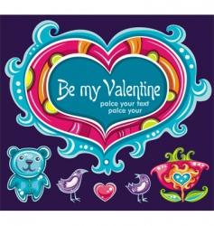 heart set love vector image