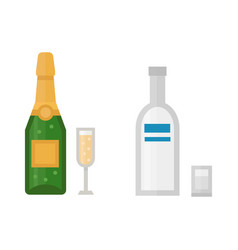 Alcohol champagne drinks beverages cocktail drink vector