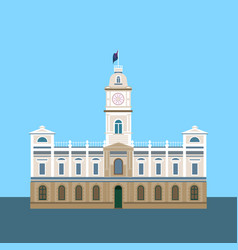 Historic building ballarat vector