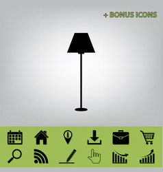 Lamp simple sign  black icon at gray vector