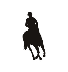 Equestrian show silhouette vector