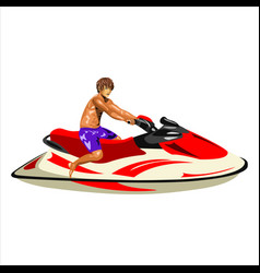 man on the jet ski vector image