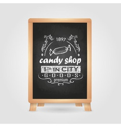 Chalk drawings retro typography vector
