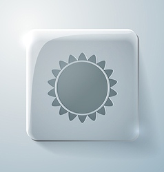 Sun glass square icon with highlights vector
