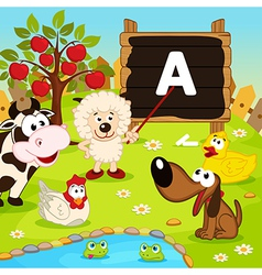 Sheep teaches animals vector