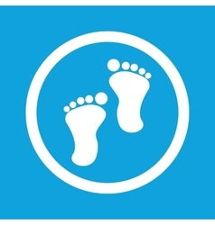 Footprint sign icon vector
