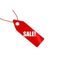 Red market tag with word sale on it vector
