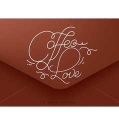 Valentines envelope coffee vector image