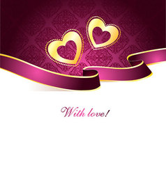 Valentine card vintage vector