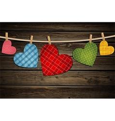 Vintage paper hearts vector