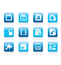 Computer and internet icons vector