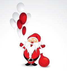 santa claus and balloons vector image