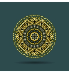 Yellow black mandala vector
