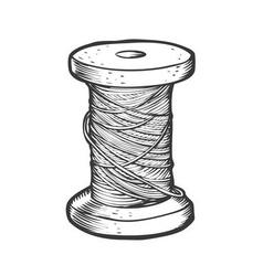Spool of thread vector