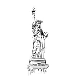 Statue of Liberty sketch vector image