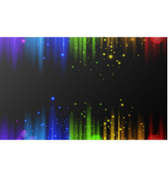 background template with shiny lights in rainbow vector image vector image