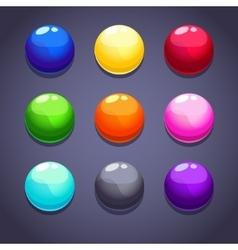 Balls colorful vector