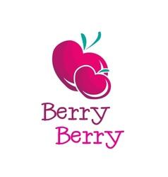 Bright b letter berry logo vector