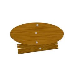 brown wood notices icon vector image vector image