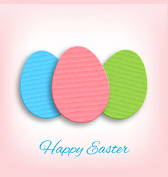 cardboard easter eggs vector image