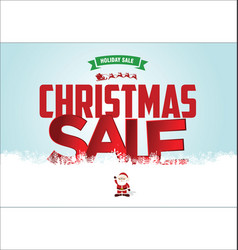 christmas sale web banner 2 vector image