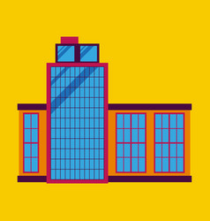 Commercial building architecture in flat design vector