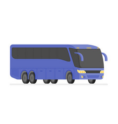 Corner view bus on the road vector