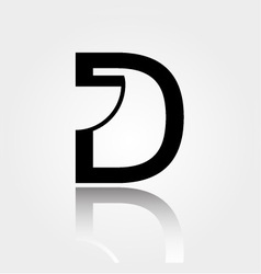 D for design- logo for interior design or architec vector